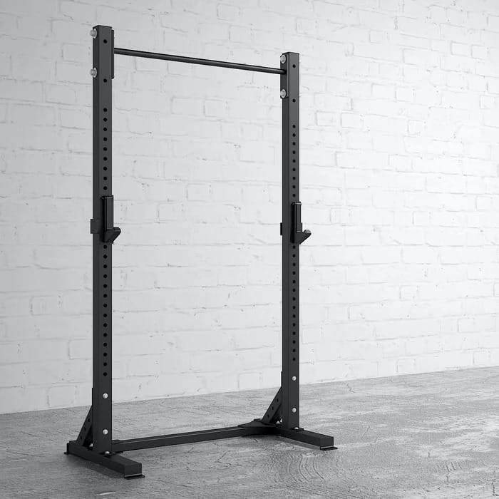 American Barbell Pull-Up Squat Stand quarter view