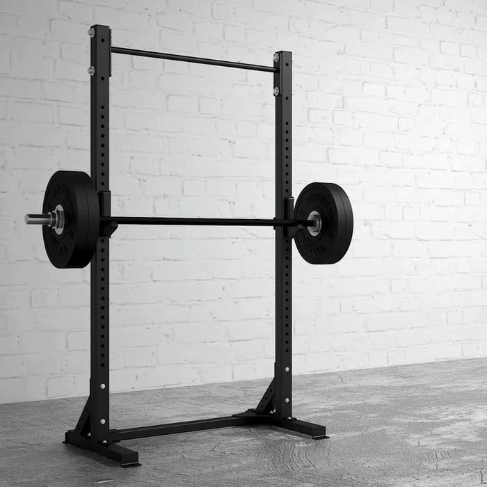 American Barbell Pull-Up Squat Stand with a barbell
