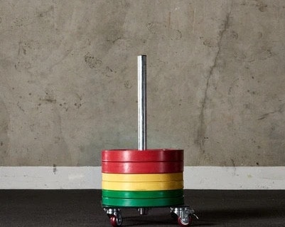 American Barbell Upright Rolling Bumper Storage main