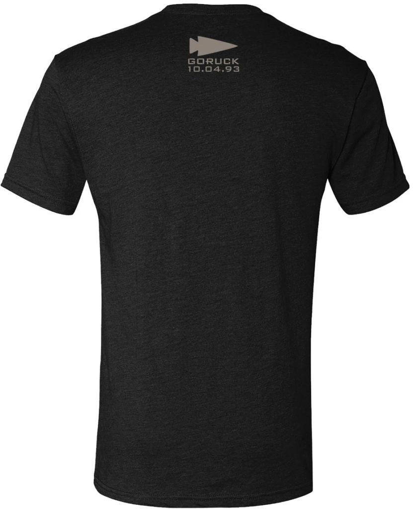 GORUCK T-shirt - Leave No One black back
