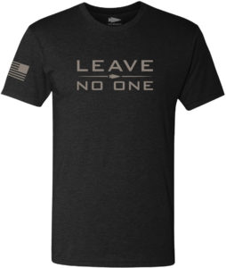 GORUCK T-shirt - Leave No One black front