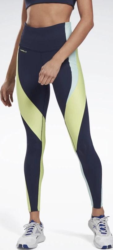 Reebok Les Mills High-Rise Colorblock Lux Leggings worn 1