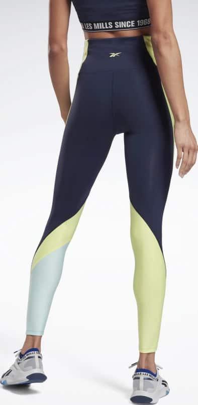 Reebok Les Mills High-Rise Colorblock Lux Leggings worn back
