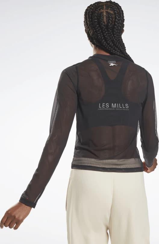 Reebok Les Mills Lightweight Layering Long Sleeve Shirt worn back