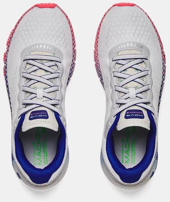 Reebok Womens UA HOVR Machina 2 Running Shoes Halo Gray  Brilliance top view