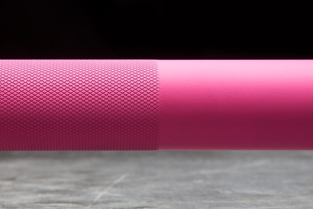 Rogue The Ohio Bar - Cerakote Special Pink Edition knurl and smooth