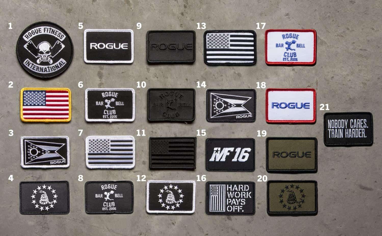 Rogue USA Nylon Lifting Belt patches