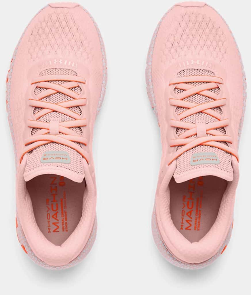 Under Armour Womens UA HOVR Machina 2 Running Shoes Beta Tint  Blaze Orange top view